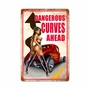 Dangerous Curves Metal Sign