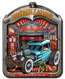 Dependable Service Radiator Metal Sign