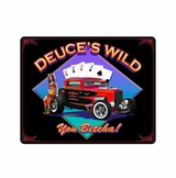 Deuce'S Wild Metal Sign