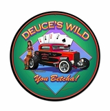 Deuces Wild Ii Metal Sign