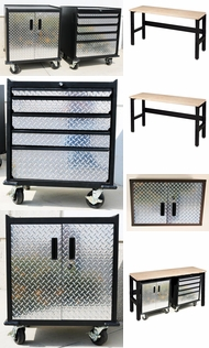 Items in Diamond Plate and Steel Cabinets