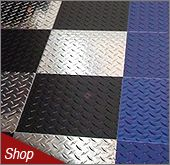 Diamond Plate Floor and Wall Tiles
