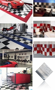 Items in Diamond Plate Floor and Wall Tiles