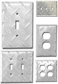 Items in Diamond Plate Switch Plates