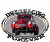 DRAG RACING FOREVER Metal Sign