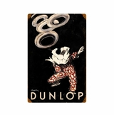 Dunlop Clown Metal Sign