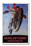 Dunlop Cord Made in England Metal Sign