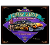 Dyna Flo's Kustom Shop Metal Sign