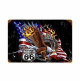 Eagle Flag 66 Metal Sign