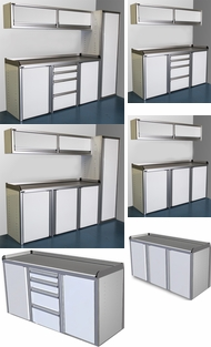 Items in Economy Aluminum Cabinets