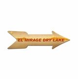 El Mirage Arrow Metal Sign