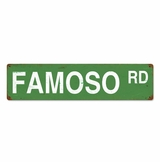 Famoso Road Sign