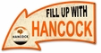 Fill Up With Hancock Arrow Metal Sign