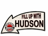 Fill Up With Hudson Metal Sign