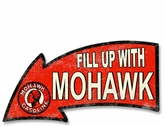 Fill Up With Mohawk Gasoline Arrow Metal Sign