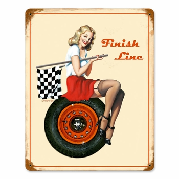 Finish Line Metal Sign