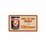 Fleetwood Oil Metal Sign