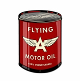 Flying A Oil Can Metal Sign