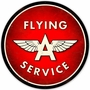 Flying A Service Metal Sign