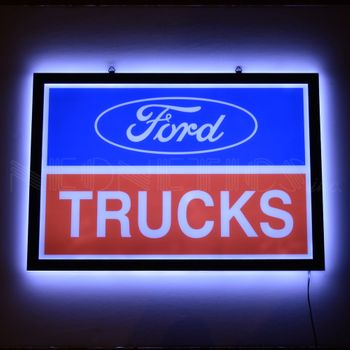Ford Trucks Slim Led Sign
