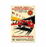 Francorchamps Metal Sign
