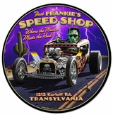 Frankie's Speed Shop Metal Sign
