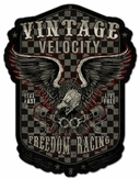 Freedom Racing Metal Sign