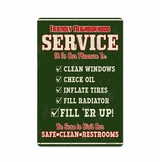 Friendly Service with Wood Frame Metal Sign