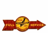 Full Service 400 Aviation Dry Gasoline Metal Sign