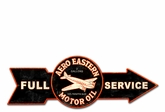 Full Service Aero Eastern Motor Oil Metal Sign