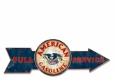 Full Service American Gasoline Metal Sign