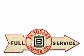 Full Service Be Square Motor Oil Metal Sign
