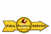 Full Service Beeline Gasoline Metal Sign