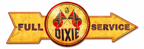 Full Service Dixie Metal Sign