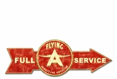 Full Service Flying A Metal Sign