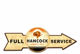 Full Service Hancock Gasoline Metal Sign