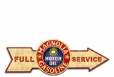 Full Service Magnolia Gasoline Metal Sign