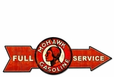 Full Service Mohawk Gasoline Metal Sign