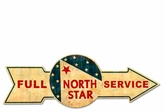 Full Service North Star Metal Sign