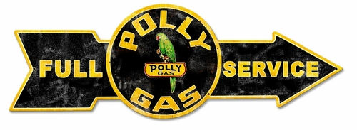 Full Service Polly Gas Metal Sign