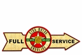 Full Service Star Motor Gasoline Metal Sign