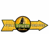 Full Service Tower Gasoline Metal Sign