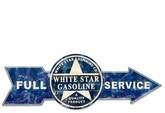 Full Service White Star Gasoline Metal Sign