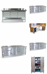 Items in Full Stainless Steel Storage
