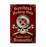 Gearhead Parking Metal Sign
