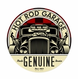 Genuine Hot Rod Metal Sign