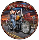Goin' Hog Wild Metal Sign