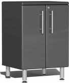 Graphite Grey Metallic MDF 2-Door Base Cabinet