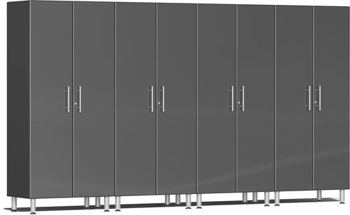 Graphite Grey Metallic MDF 4-Pc Tall Cabinet Kit