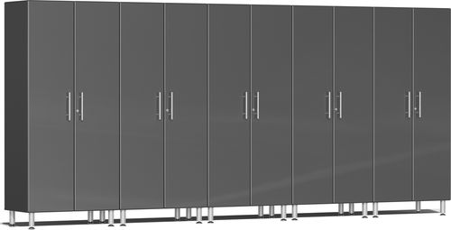 Graphite Grey Metallic MDF 5-Pc Tall Cabinet Kit